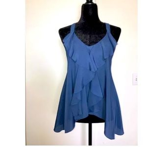 BCBGeneration Ruffle and Lace Top Small